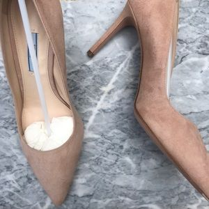 Prada 85 Suede Pointy-Toe Pump size 39